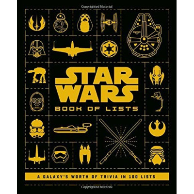 Книга becker&mayer! Star Wars: Book of Lists: A Galaxy's Worth of Trivia in 100 Lists [Hardcover]