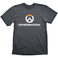 Футболка Overwatch Logo (белый/оранжевый на сером)