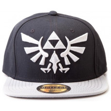 Бейсболка The Legend of Zelda: Twilight Princess - Hyrule Crest Logo (Grey)