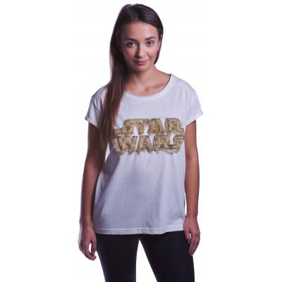 Футболка Good Loot Star Wars - Fuzzy Logo (женская)