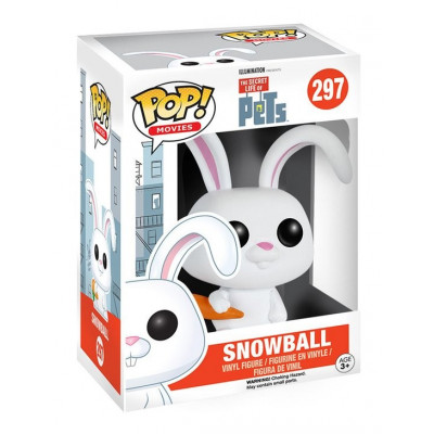 Фигурка The Secret Life of Pets - POP! Movies - Snowball (9.5 см)