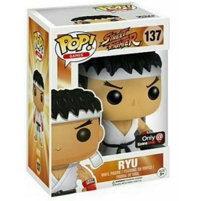 Фигурка Street Fighter - POP! Games - Ryu White Headband (Exc) (9.5 см)