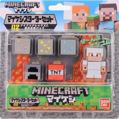Набор фигурок Minecraft - Mine-Keshi: Starter Set - Cave Adventure Pack & Alex (2-4 см)