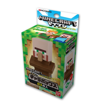 Фигурка Minecraft - Mine-Keshi: Character Box - Villager (4 см)