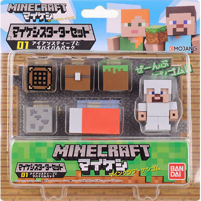 Набор фигурок Minecraft - Mine-Keshi: Starter Set - Survival Pack & Steve (2-4 см)