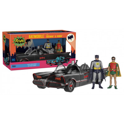 Набор фигурок Batman: Classic TV Series - Action Figure - Batmobile w/ Batman & Robin (9.5 см)