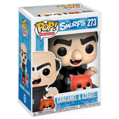 Фигурка The Smurfs - POP! Animation - Gargamel & Azrael (9.5 см)