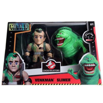 Набор фигурок Ghostbusters - Metalfigs - Venkman и Slimer (10 см)