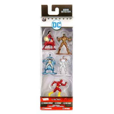 Набор фигурок DC Comics - Nano Metalfigs - Pack 1 (4 см)
