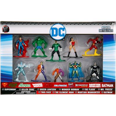 Набор фигурок DC Comics - Nano Metalfigs (10 шт, 4 см)