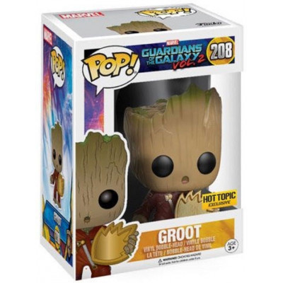 Головотряс Guardians of the Galaxy Vol.2 - POP! - Groot w/ Ravager Patch (Exc) (9.5 см)