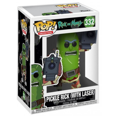 Фигурка Rick & Morty - POP! Animation - Pickle Rick w/ Laser (9.5 см)