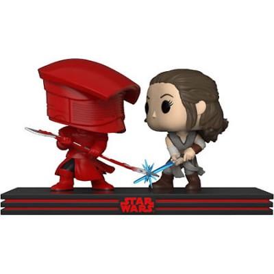 Набор фигурок Star Wars: The Last Jedi - POP! Movie Moment - Rey & Praetorian Guard (9.5 см)