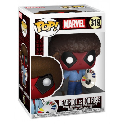 Головотряс Deadpool - POP! - Deadpool as Bob Ross (9.5 см)