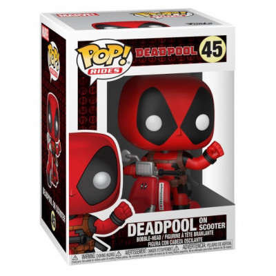 Головотряс Deadpool - POP! Rides - Deadpool on Scooter (9.5 см)