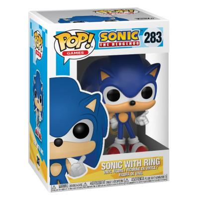 Фигурка Sonic: The Hedgehog - POP! Games - Sonic with Ring (9.5 см)