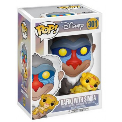 Фигурка The Lion King - POP! - Rafiki with Simba (9.5 см)