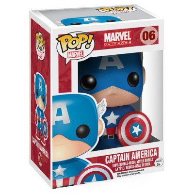 Головотряс Marvel Universe - POP! Marvel - Captain America (9.5 см)