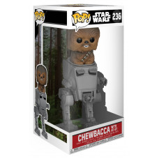 Головотряс Star Wars: Episode VI Return of the Jedi - POP! Deluxe - Chewbacca with AT-ST (20 см)