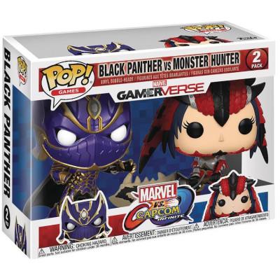 Набор головотрясов Marvel vs Capcom: Infinite - POP! Games - Black Panther vs Monster Hunter (9.5 см)