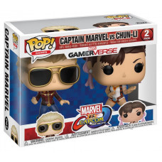 Набор головотрясов Marvel vs Capcom: Infinite - POP! Games - Captain Marvel vs Chun-Li (9.5 см)