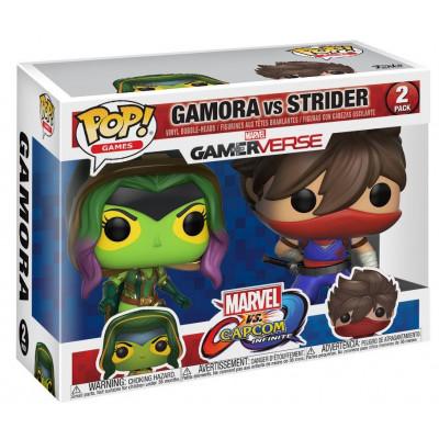 Набор фигурок Funko Набор головотрясов Marvel vs Capcom: Infinite - POP! Games - Gamora vs Strider 22776 (9.5 см)