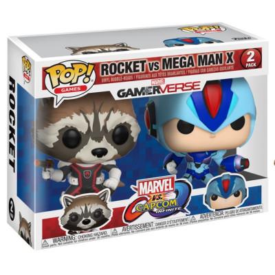 Набор головотрясов Marvel vs Capcom: Infinite - POP! Games - Rocket vs Mega Man X (9.5 см)