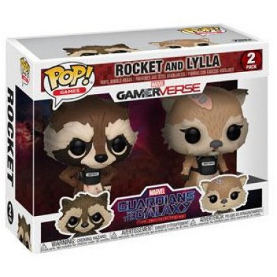 Набор головотрясов Guardians of the Galaxy: The Telltale Series - POP! Games - Rocket and Lylla (9.5 см)