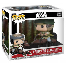 Головотряс Star Wars - POP! Deluxe - Princess Leia with Speeder Bike (9.5 см)