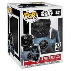 Головотряс Star Wars - POP! Deluxe - Tie Fighter Pilot w/ Tie Fighter (9.5 см)