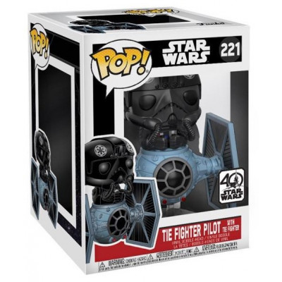 Головотряс Star Wars - POP! Deluxe - Tie Fighter Pilot w/ Tie Fighter (9.5 см)