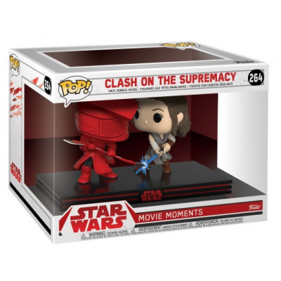 Набор головотрясов Star Wars: The Last Jedi - POP! Movie Moment - Clash on the Supremacy (Rey) (9.5 см)