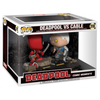 Набор головотрясов Deadpool - POP! Comic Moments - Deadpool vs Cable (9.5 см)