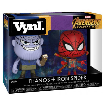 Набор фигурок Funko Avengers: Infinity War - Vynl - Thanos + Iron Spider 30932 (9.5 см)