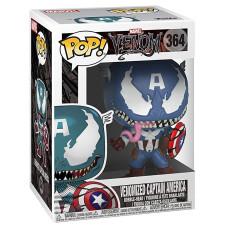 Головотряс Venom - POP! - Venomized Captain America (9.5 см)
