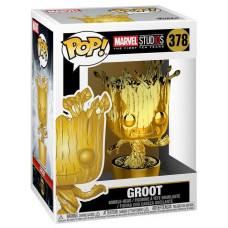 Головотряс Marvel Studios: The First Ten Years - POP! - Groot (Gold Chrome) (9.5 см)
