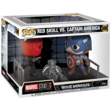 Набор фигурок Marvel Studios: The First Ten Years - POP! Movie Moments - Red Skull vs Captain America (9.5 см)
