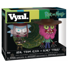 Набор фигурок Rick & Morty - Vynl - Seal Team Rick + Scary Terry (9.5 см)