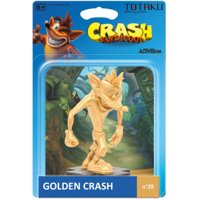 Фигурка Crash Bandicoot - TOTAKU Collection - Golden Crash (10 см)