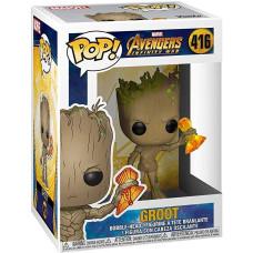 Головотряс Avengers: Infinity War - POP! - Groot with Stormbreaker (9.5 см)