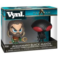 Набор фигурок Aquaman - Vynl - Aquaman + Black Manta (9.5 см)