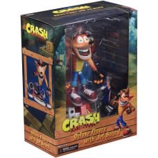 Фигурка Crash Bandicoot - Deluxe - Crash Bandicoot with Jet Board (17 см)