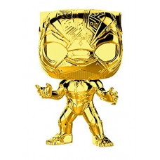 Головотряс Marvel Studios: The First Ten Years - POP! - Black Panther (Gold Chrome) (9.5 см)