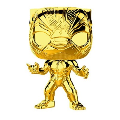 Головотряс Marvel Studios: The First Ten Years - POP! - Black Panther (Gold Chrome) (9.5 см)