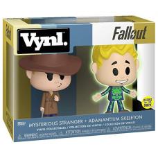 Набор фигурок Fallout - Vynl - Mysterious Stranger + Adamantium Skeleton (9.5 см)