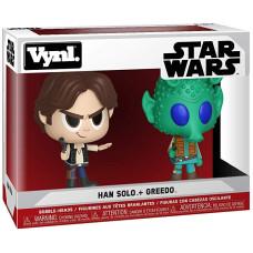 Набор головотрясов Star Wars - Vynl - Han Solo + Greedo (9.5 см)