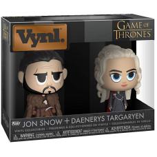 Набор фигурок Game of Thrones - Vynl - Jon Snow + Daenerys Targaryen (9.5 см)