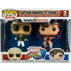 Набор головотрясов Marvel vs Capcom: Infinite - POP! Games - Captain Marvel vs Chun-Li (Exc) (9.5 см)