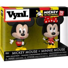 Набор фигурок Mickey: The True Original (90 Years) - Vynl - Mickey Mouse + Minnie Mouse (9.5 см)