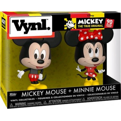 Набор фигурок Funko Mickey: The True Original (90 Years) - Vynl - Mickey Mouse + Minnie Mouse 26673 (9.5 см)